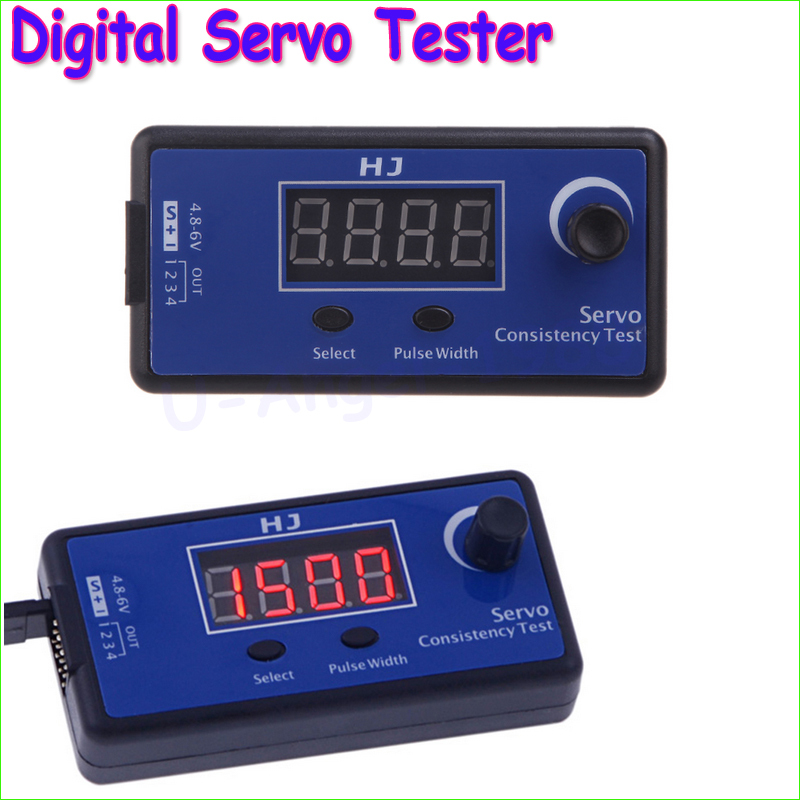 1pc HJ Digital Servo Tester / ESC Consistency Tester for RC Helicopter Airplane Car RC Helicopter Tester Tool Wholesale Dropship jx pdi 5521mg 20kg high torque metal gear digital servo for rc model