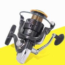 12+1BB 5.2:1 Metal Spool Spinning Fishing Reel CNC Metal Rocker Arm Fishing tackle Pesca Carrete Feeder Carp Fishing Wheel LJ