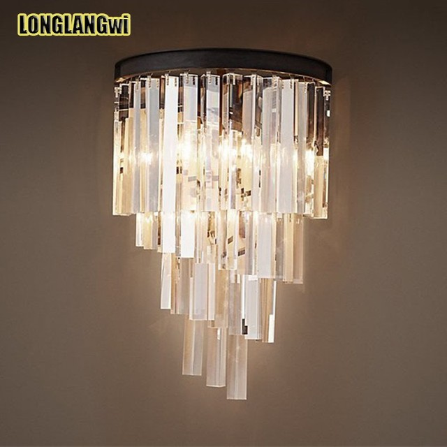 Modern classic crystal wall light 110v 220v wall sconce glasses modern classic crystal wall light 110v 220v wall sconce glasses parts decorative vintage crystal wall lamp mozeypictures Gallery