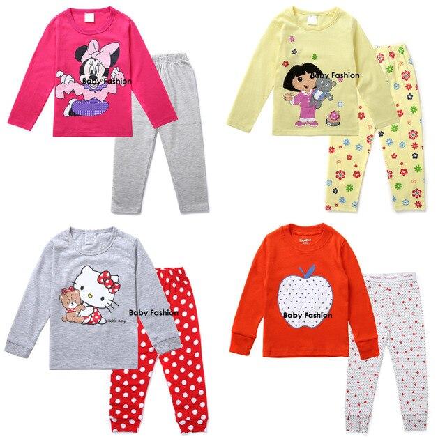 2fa27489a New 2pcs Cartoon T shirt Top Pants Pajamas Pyjamas Pijamas Sleepwear ...