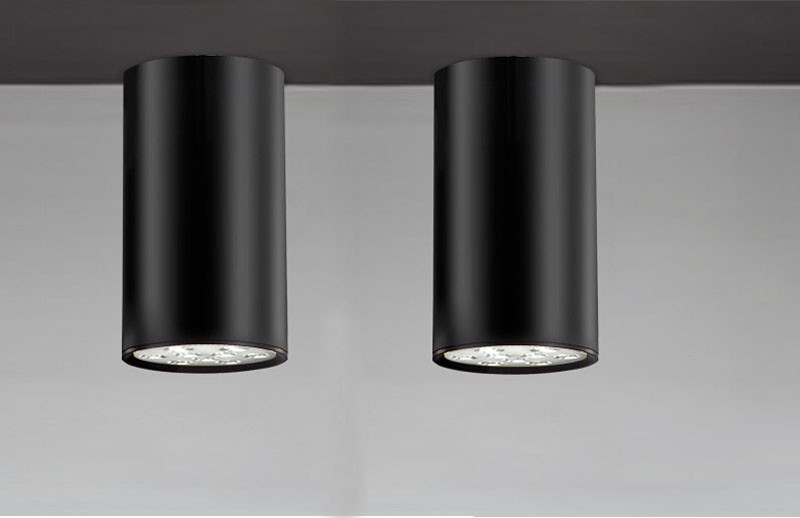 Contemporary Black Cylinder Aluminum 9W LED Ceiling Lights Exhibition Office Dome Light Commercial Light3