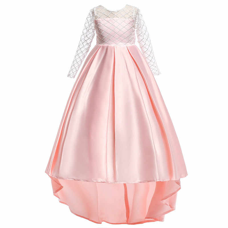 861fbcc960 teen girl clothing 2018 Toddler Girl Dresses Party and Wedding Satin Dress  Pink Birthday Dress for 4 Year Prom Dresses