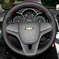 Caso para Chevrolet Tracker Trax Cruze Aveo volante cobre estilo Do Carro DIY couro genuíno Anti-slip respirável cobre