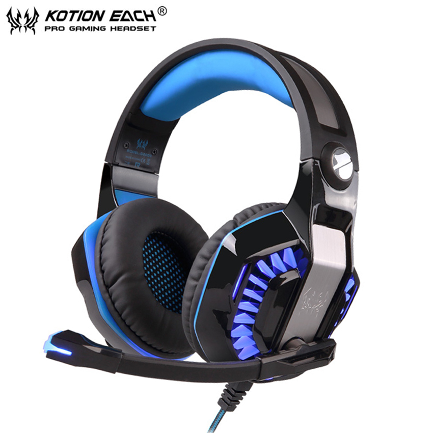 KOTION EACH Gaming Headset PC Gamer casque Stereo Headphones with Microphone Dazzle Lights Glow G2000 Upgrade for Computer asus zenbook ux303ub r4253t [90nb08u1 m05050] 13 3 i5 6200u 6gb 128gb ssd gf940m 2gb w10 brown