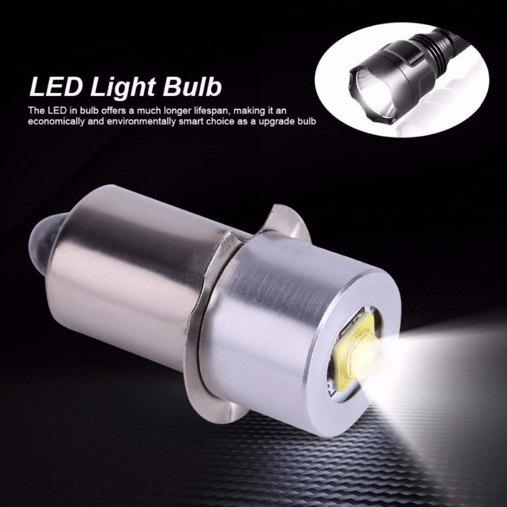 3W <font><b>E10</b></font> P13.5S 3V 4-12V 6-<font><b>24V</b></font> <font><b>LED</b></font> Upgrade Bulb for C/D Cell Flashlights <font><b>LED</b></font> Torch Light Work Light Replacement Bulb image