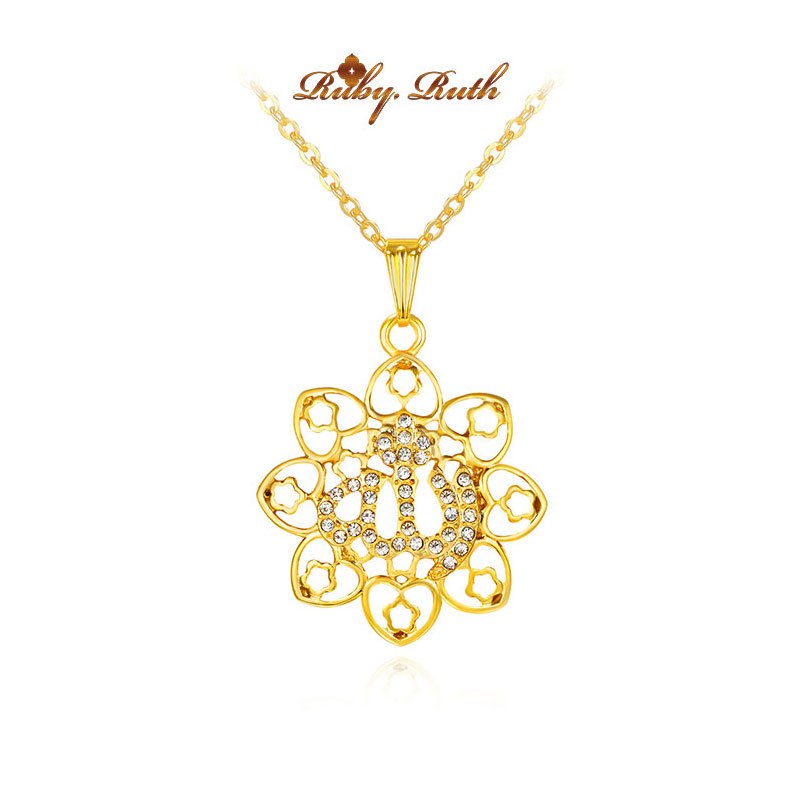 gorjuss islam islamic allah necklace jewelry pendant fashion colar & necklace vintage colares collares crystal 2017