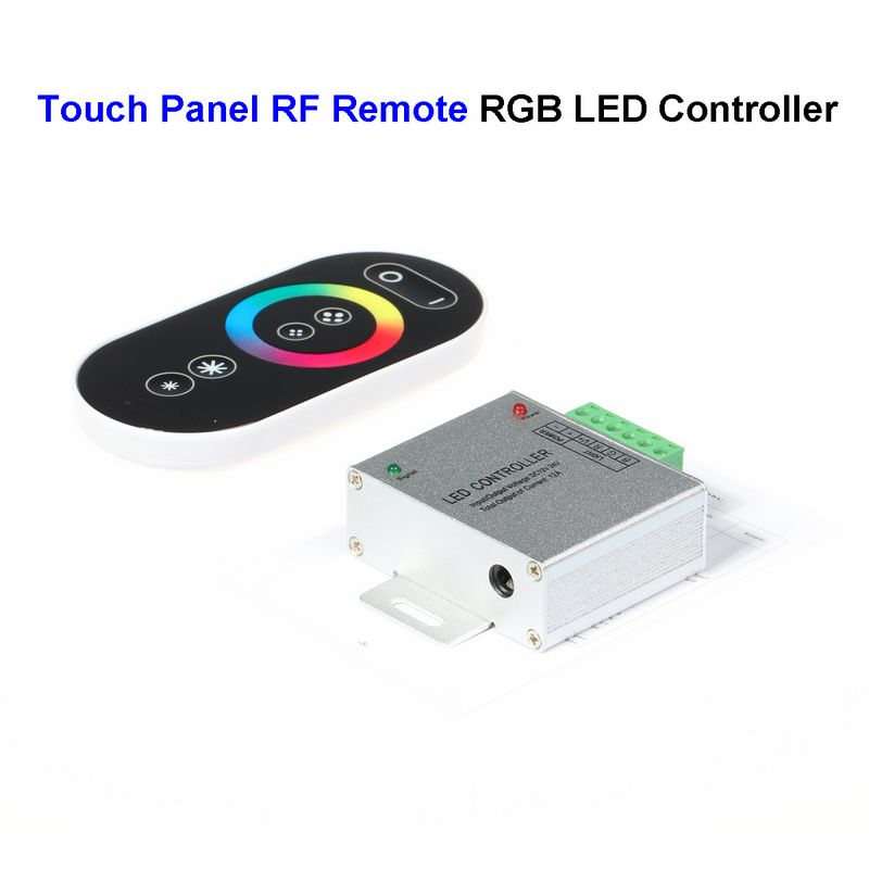 15pcs DC12V RGB LED Controller Wireless Touch Panel Screen RF Remote Control For SMD 5050 3528 5730 LED Rigid Strip