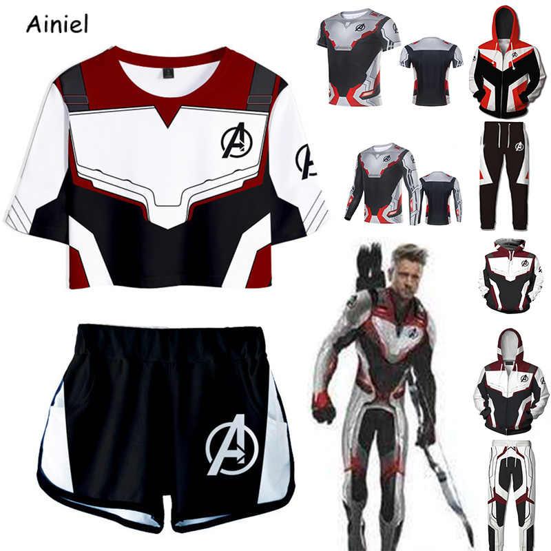 Мстители Endgame Quantum Realm свитер с капюшоном футболка брюки для девочек супергерой Железный Человек-паук косплейная толстовка куртка взрослых для женщин