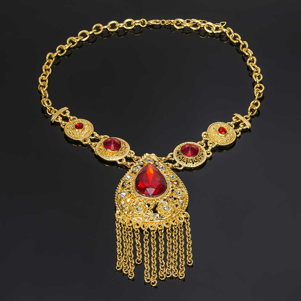 MUKUN Jewelry Sets for Women Fashion African Beads Wedding Vintage Dubai Gold Color Bridal Ethiopian Turkish Costume Jewellery