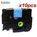 Kodex 10 шт./лот TZe 555 лента для этикеток совместимая с Brother P-touch лента 24 мм TZe-555 TZ-555 белый на синий принтер ленты