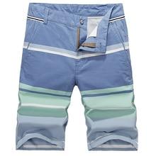 2017 neue Marke Sommer Casual Shorts Männer Baumwolle Mode-stil Herren Shorts Bermuda Beach Stripped Shorts Plus Größe Männer Shorts