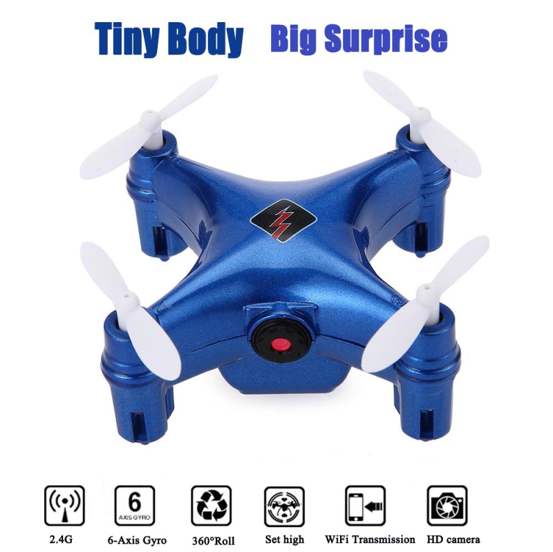 Tiny Body Drone RC Quadcopter Q343 Wifi FPV with camera High Hold Mode Mini Drone Helicopter remote control Toy for best Gift