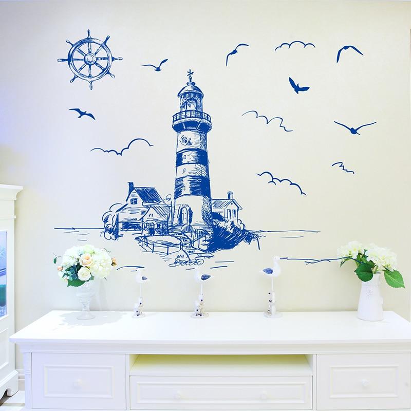 [SHIJUEHEZI] Blue Color fyr Birds Wall Sticker PVC Material DIY - Heminredning - Foto 5