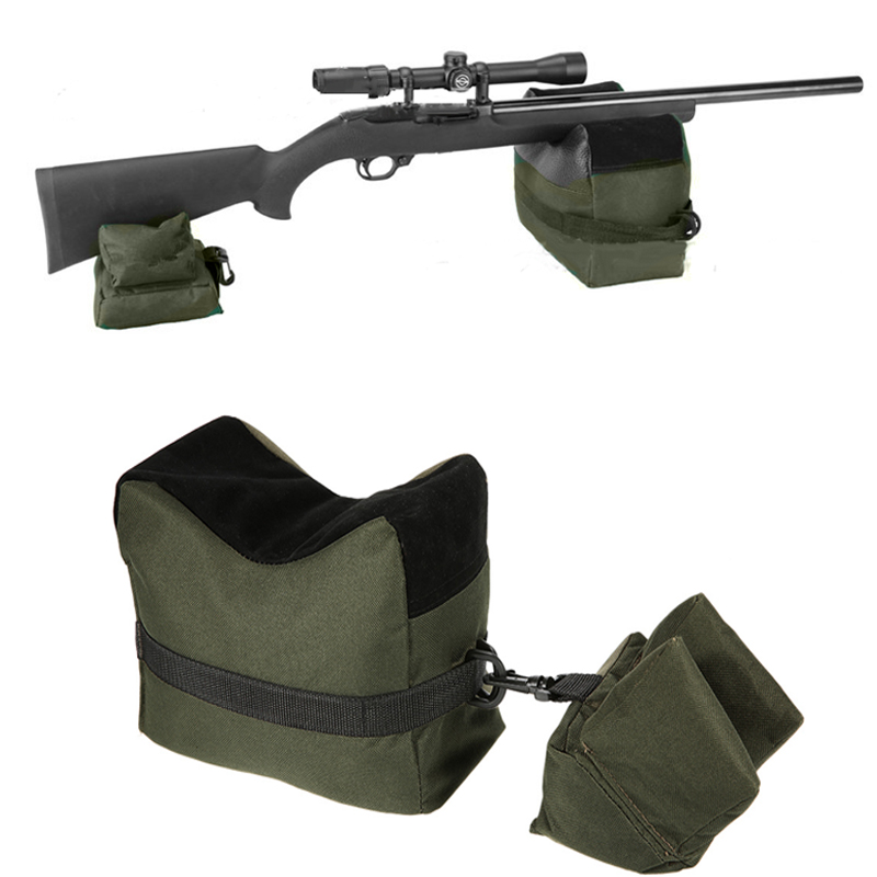 3 Colors Portable Shooting Front & Rear Bench Rest Bags Rest Range Target Tactical Bench Unfilled Stand Hunting Accessories