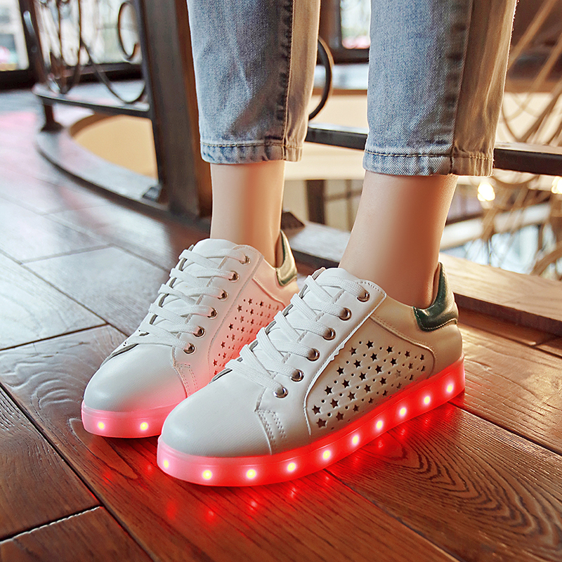 women LED Single shoes ,LED Luminous Shoes Unisex casual shoes For woMen Glowing Shoes USB Charging Light chaussure lumineuse size 36 43 led shoes glowing 7 colors led women fashion luminous led light up shoes for adults
