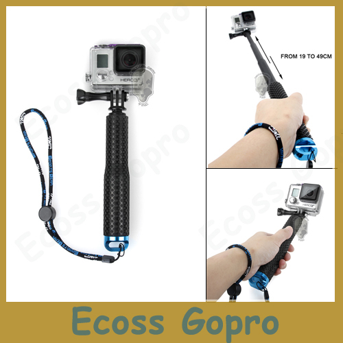 For GoproTelescoping Pole Mount 19 49cm Handheld Monopod Tripod Gopro Hero 4 3 Session Sj4000 Xiaomi Yi Accessories In Tripods From Consumer