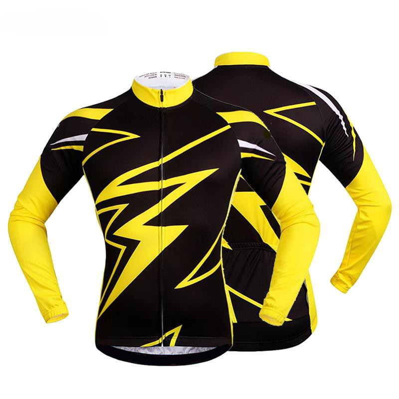 WOSAWE-Quk-Dry-Breathable-Bike-Bycle-Cycling-Cycle-Jersey-Jacket-Long-Sleeve-Tee-Quarter-Men-s