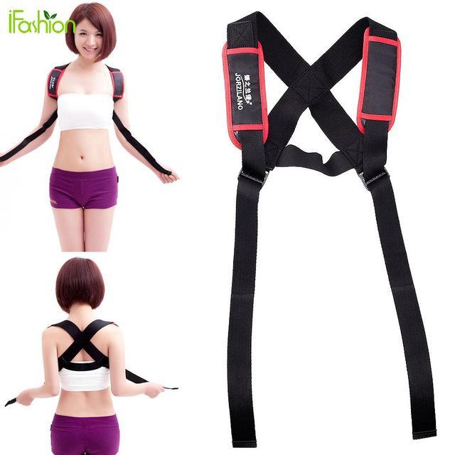 Volver Corrector de Postura de Hombro ajustable Prevenir Jorobado Pecho Brace Support Belt Salud Elástica Chaleco Protector de Postura