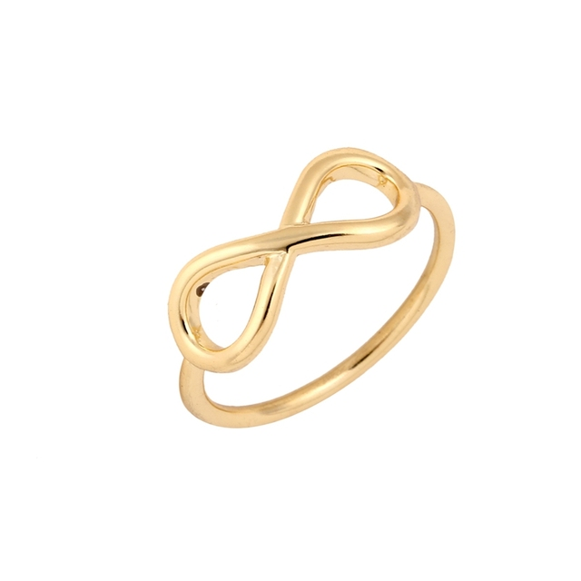 Shuangshuo 2017 New Fashion Simple Silver Infinity Rings for Women Minimalist Je