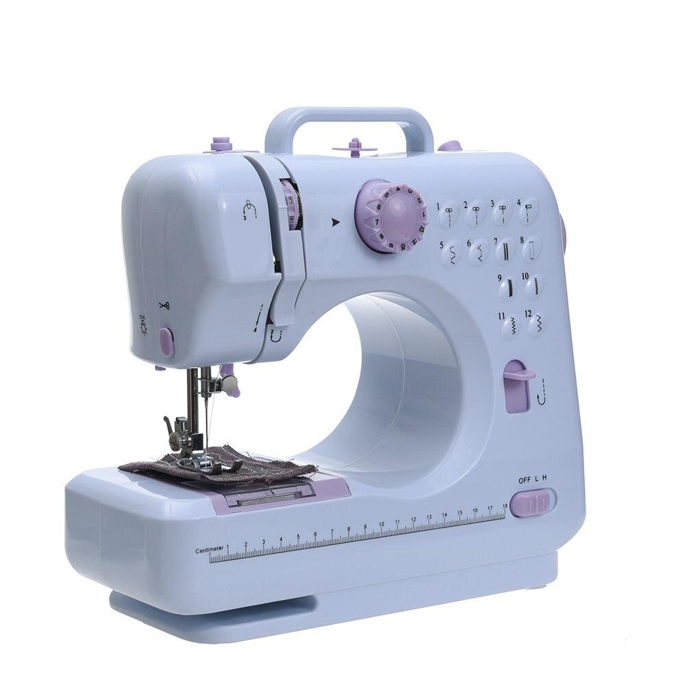 Multifonction Mini Machine À Coudre 505A 12 Points Remplaçable + 12 pc Pied Presseur LED d'alimentation Lumière des cours de Couture