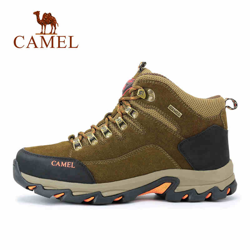 CAMEL Winter Outdoor Lace-up Hiking Shoes For Men Comfortable Anti-skid Warm Wear-resistant Mountain Climbing Trekking Boots