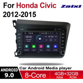 ZaiXi 4GB android 9.0 car dvd player For Honda Civic 2012~2015 Multimedia GPS Navigation Map Autoradio WiFI Bluetooth WIFI HD image