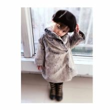 Kids boy PU leather patchwork fox faux fur collar fur jacket coat down parkas thicken coat princess winter outerwear fur coat(China)