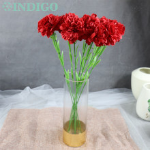 INDIGO-9pcs/lot Red Carnation Decoration Flower Artificial Wedding Party Mothers Day Gift Free Shipping