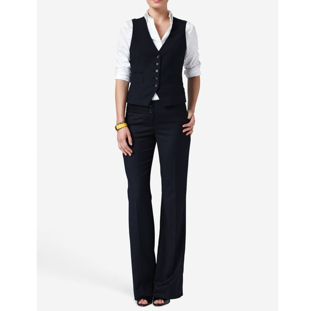 c56b8d9a07f Casual and womens formal wear pantsuits Hot Sale Women Ladies Formal  Business Office Suit Vest+Pants New Arrival Tuxedos