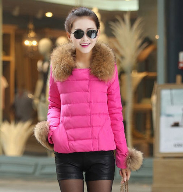 2014 New Winter Solid O-Neck Solid White Duck Down Parkas Covered Button Slim Fur Collar Women Coat Female Full Sleeve Down E828 женский пуховик o 8 o d827 2014