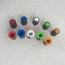10 шт. полувал D отверстие Пластиковая крышка для ручки/270 градусов миксер клавиатура потенциометра Ручка вращающийся колпачок/красный желтый синий зеленый whi