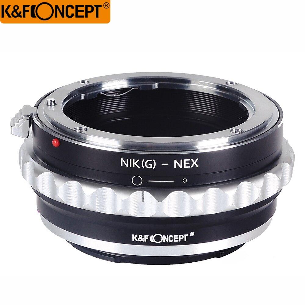 K & F CONCEPT Camera Lens Mount Adapter Ring pour Nikon G Lens Ajustement Pour Sony NEX E-mount NEX3 NEX5 NEX5N NEX7 NEX-VG1 D'origine Nouveau