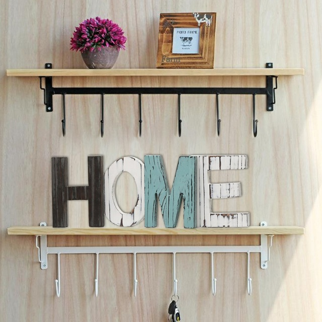 Shabby Chic Vintage Whitewash Wooden Sign HOME Letters Freestanding Home Decor Festival Party Supplies