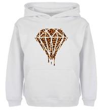 Unisex Fashion Bleeding Melting Dripping Galaxy Diamond Leopard Design Hoodie Men's Boy's Women Girl's Sweatshirt Printed Hoody