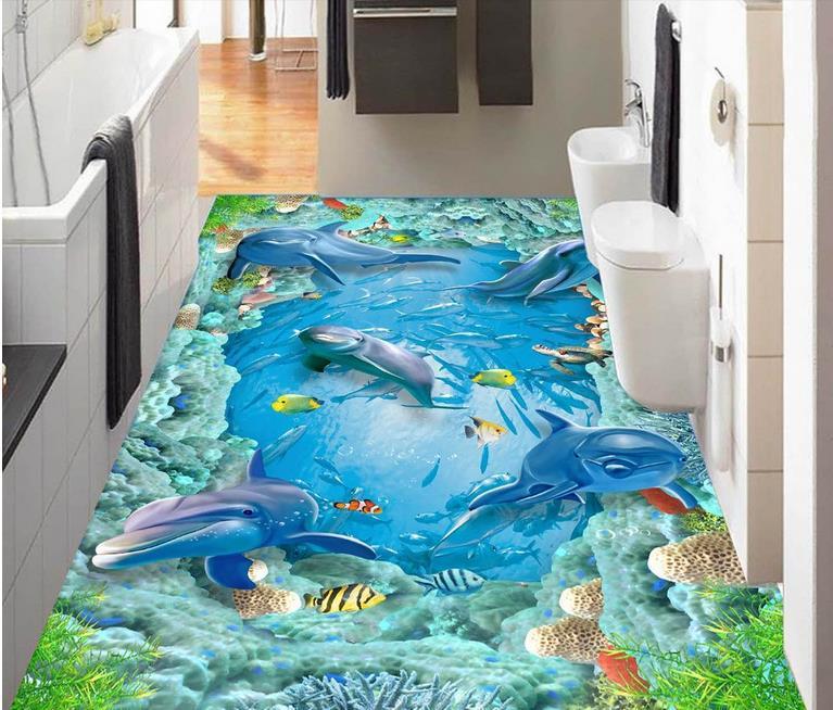 3d flooring custom wallpaper dolphin 3d floor photo murals 3d room wallpaper landscape 3d flooring pvc water 3d flooring room self adhesive wallpaper custom 3d floor dolphin coral 3d murals flooring