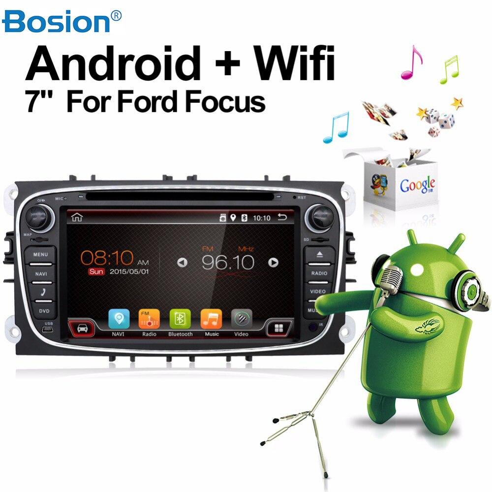 Doppio Din Car Stereo Radio Android 7.1 Lettore Dvd Dell'automobile per Ford Mondeo Fuoco Costruito in GPS DELLA MACCHINA FOTOGRAFICA di PARCHEGGIO + wifi + Bluetooth + USB + SD