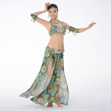 Flower Colors Belly Dance Outfit Belly Dancing Costume Rhinestone Bra C/D Cup Wrapped Skirt with Shorts BellyDance Suit 3pcs Set