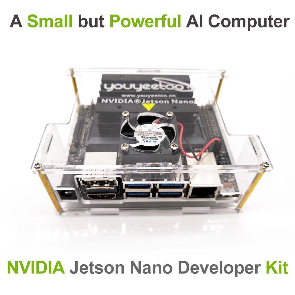 NVIDIA Jetson Nano Kit de desarrollo para inteligencia Artiticial aprendizaje profundo AI Computing, soporte PyTorch, TensorFlow y Caffe