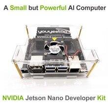 Nvidia jetson nano a02developer kit para inteligência artificial de aprendizagem profunda ia computação, suporte pytorch, tensorflow e caffe