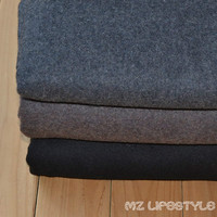 MUJI Double Sided Wool Worsted Woolen Cloth Wind Thick Winter Coat Jacket Skirt Cape Fabric