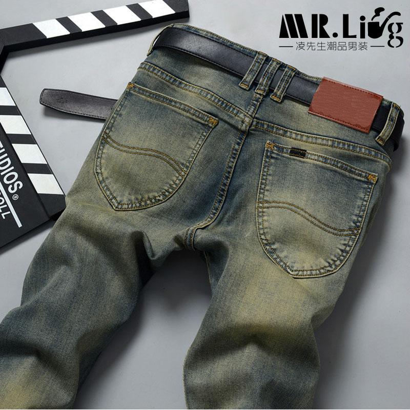 ФОТО Pantalones Hombre Vaqueros Men Jeans Pants Slim Fit Robin Biker Jeans Mens Denim Joggers Skinny Jeans Homme  1293