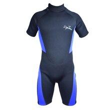Cheap 3mm neoprene shorty men triatlon wetsuit swimsuit Plus Size mens black swimwear swimming surfing suit rash guard B1619