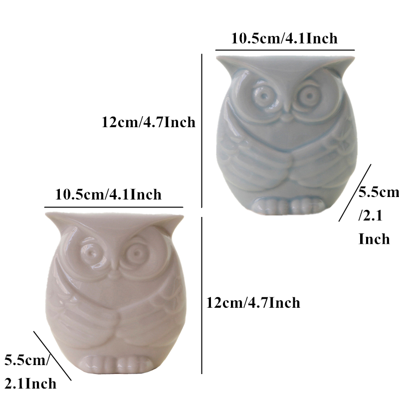 VILEAD 4 7 39 39 Ceramic Owl Figurines Blue White Wise Owl Ornament Vintage Home Decor Animal Model Miniatures Home Decoration Gifts in Figurines amp Miniatures from Home amp Garden
