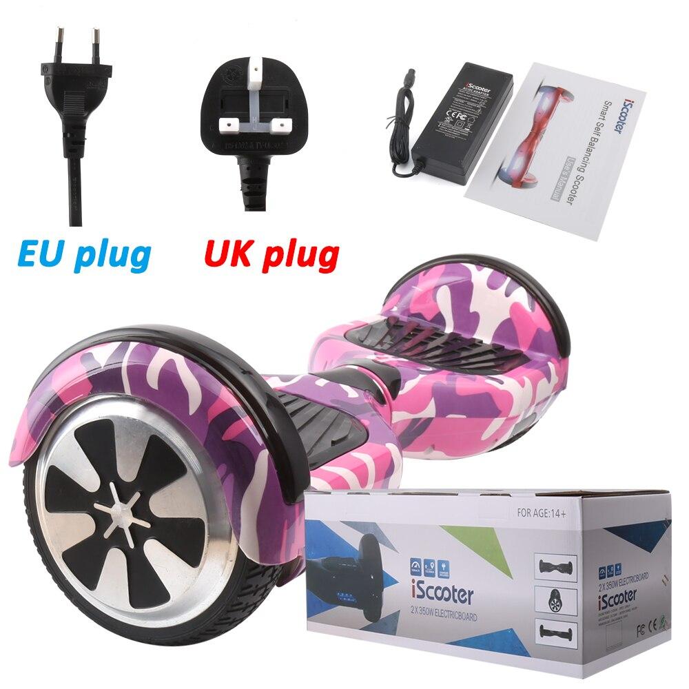 IScooter planche à roulettes électrique Hoverboard auto équilibrage Scooter deux 6.5 pouces roue avec Led Bluetooth haut-parleur 6.5 ''vol stationnaire - 6