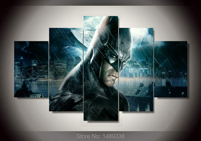 Framed Printed batman arkham knight city Painting on canvas room ...