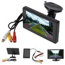 """4.3 """"pulgadas Monitor Del Coche TFT LCD de Pantalla Digital en Color de Visión Trasera Soporte Monitor VCD DVD GPS Cámara con 2 Entradas de Vídeo + Succión taza"""