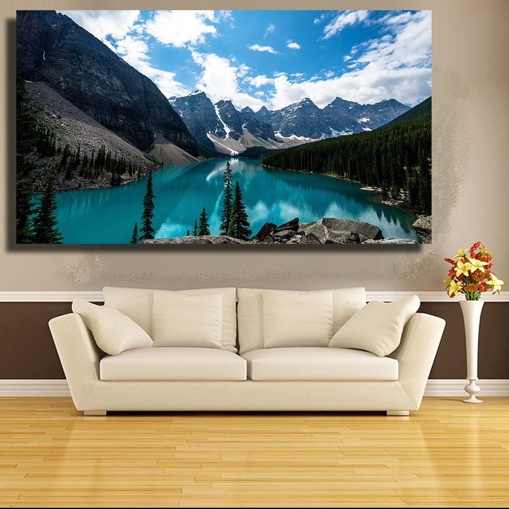Qkart Photo Wall Art Lac Louise Canada Paysage Mur Photos Pour Salon
