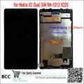 En stovk! negro para nokia x2 1013 x2ds touch screen + lcd display con marco ok prueba libre del envío + tracking