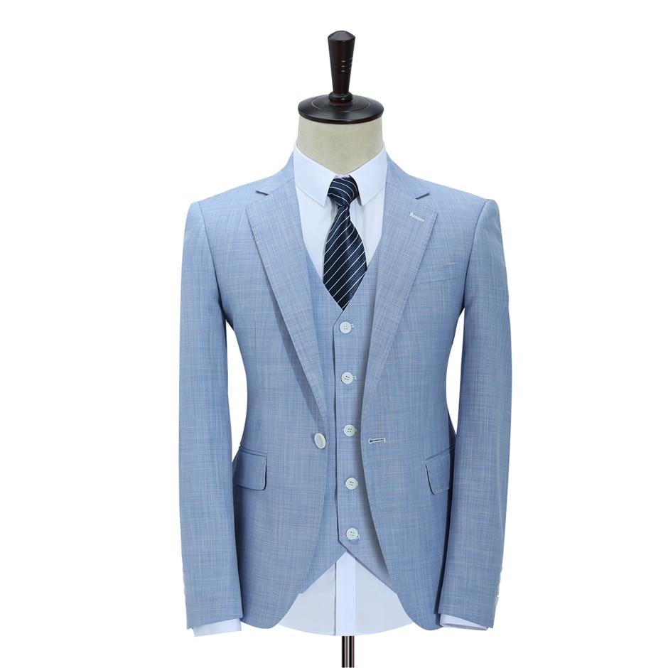 Groom Wear Tuxedos 3 Piece Wedding Suits Groomsmen Best Man Formal ...