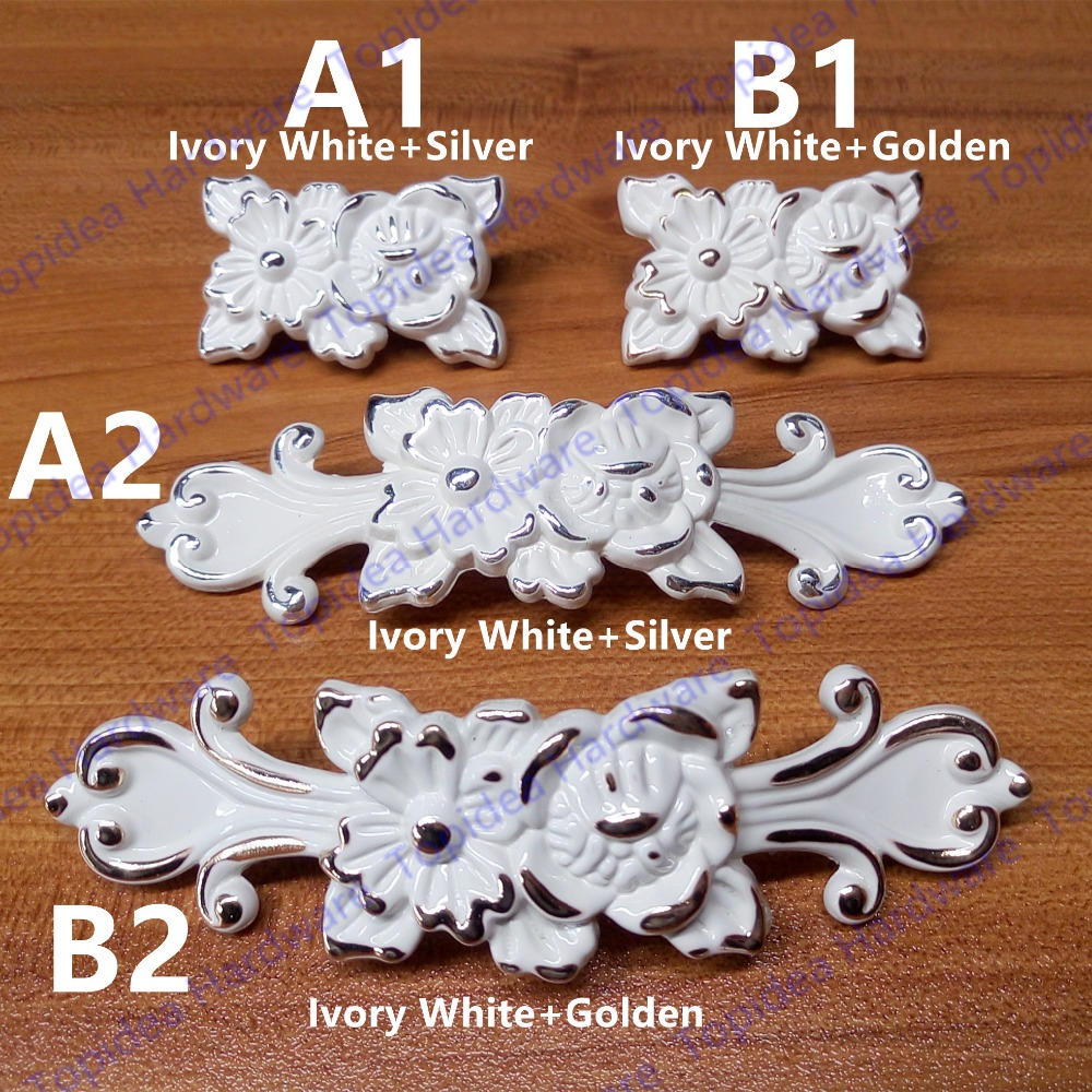 Single hole/96mm hole  furniture knob drawer pulls Antique cabinet handle Ivory white color with Flower Carved 100x cat5 video bnc male balun connector coaxial coupler for cctv camera
